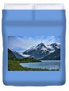 Glacier Alaska Lake  Duvet Cover