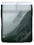 Glacier-carved Mountainside Alaska Duvet Cover