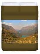 Glacier Chain Of Lakes Duvet Cover