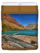 Glacier Cracker Lake Duvet Cover