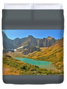 Glacier Cracker Lake Panorama Duvet Cover