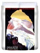 Glacier De Bionnassay, Railway, France Duvet Cover