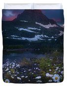 Glacier National Park At Dawn Duvet Cover