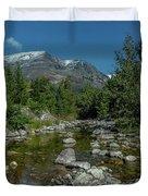 Glacier National Park-st Mary's River Duvet Cover