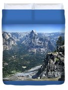 Glacier Point Panorama - Yosemite Valley Duvet Cover
