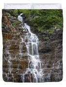 Glacier Waterfalls Duvet Cover