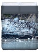 Glacier With Kayakers Duvet Cover