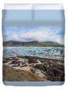 Glacier, Vatnajokull National Park, Iceland Duvet Cover