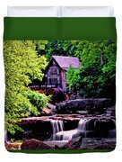 Glade Creek Grist Mill 004 Duvet Cover