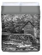 Glade Creek Grist Mill 2 Bw Duvet Cover