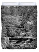 Glade Creek Grist Mill 3 Bw Duvet Cover
