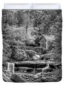 Glade Creek Grist Mill 3 - Paint 2 Bw Duvet Cover