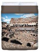 Gladiators And Christians Duvet Cover