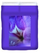 Gladiola Close-up Duvet Cover by Kathy Yates