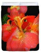 Gladiolus Bloom - Digital Art Duvet Cover