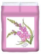 Gladiolus Pink Duvet Cover