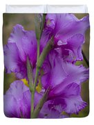 Gladiolus Rear View Duvet Cover
