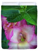 Gladys Blooms In A Blueberry Bush Duvet Cover
