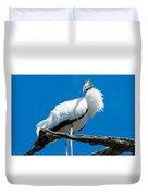 Glamorous Wood Stork Duvet Cover