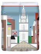 Glasgow Scotland Vertical Scene Duvet Cover
