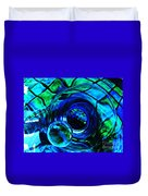 Glass Abstract 226 Duvet Cover by Sarah Loft