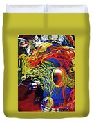 Glass Abstract 630 Duvet Cover