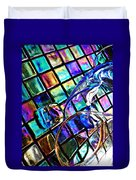 Glass Abstract 696 Duvet Cover