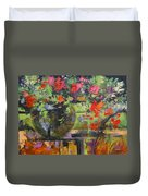 Glass And Flowers Duvet Cover