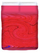 Glass And Steel Building Red Abstract Duvet Cover