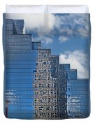 Glass Building Reflections Duvet Cover