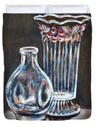 Glass Vases-still Life Duvet Cover