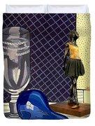 Glass With Ballerina Duvet Cover