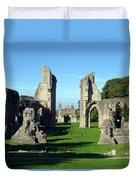 Glastonbury Abbey 1 Duvet Cover