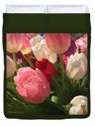 Glazed Tulip Bouquet Duvet Cover