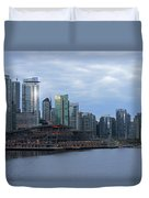 Gleaming Cityscape. Vancouver At Dawn  Duvet Cover