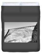 Glen Canyon Bridge Bw Duvet Cover