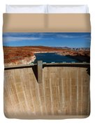 Glen Canyon Dam And Lake Powell Duvet Cover