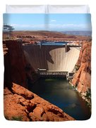 Glen Canyon Dam - Arizona Duvet Cover