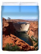 Glen Canyon Dam - Arizona Duvet Cover