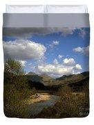 Glen Strontian And The River Strontian Sunart Western Highlands Scotland Duvet Cover