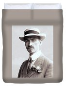 Glenn Curtiss - Aviation Pioneer And Father Of Aircraft Industry - 1909 Duvet Cover