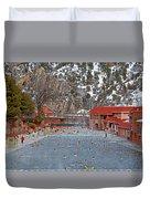 Glenwood Springs Hot Springs In Winter Duvet Cover