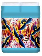 Glidding To Victorious Ends Duvet Cover