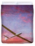 Gliders Over The Devil's Dyke At Sunset Duvet Cover