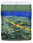 Gliding Over Hana Duvet Cover