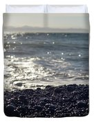 Glistening Rocks And The Ocean Duvet Cover