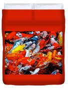 Glittering Of Koi Duvet Cover