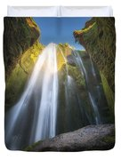 Gljufrabui Iceland Waterfall Duvet Cover