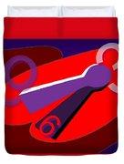 Global Time Keys Duvet Cover