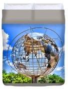 Globe At Columbus Circle Duvet Cover